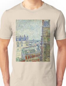 Vincent Van Gogh - View From O s Apartment, March 1887 - April 1887  Unisex T-Shirt