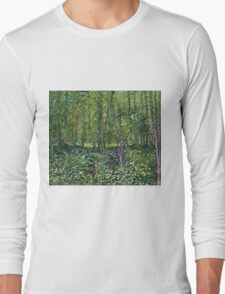 Vincent Van Gogh - Trees And Undergrowth, July 1887 - 1887  Long Sleeve T-Shirt