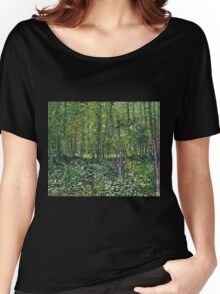 Vincent Van Gogh - Trees And Undergrowth, July 1887 - 1887  Women's Relaxed Fit T-Shirt