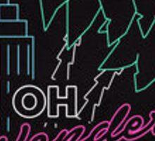 Oh Wonder Neon Sign Sticker