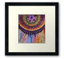 Bleeding Mandala Framed Print