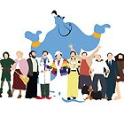 Even More Minimalist Robin Williams Character Tribute by tylerboyco