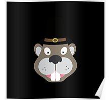 Thanksgiving Beaver Poster