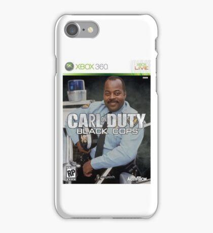 Carl on Duty: Black Cops iPhone Case/Skin