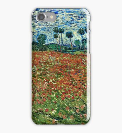 Vincent Van Gogh - Poppy Field 1890  iPhone Case/Skin