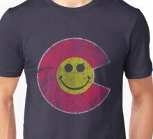 Colorado Flag Smiley Face Unisex T-Shirt