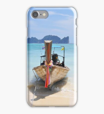 Traditional longtail boat ,Thailand iPhone Case/Skin