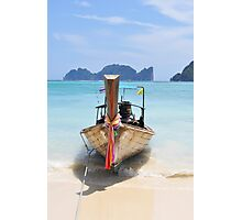 Traditional longtail boat ,Thailand Photographic Print