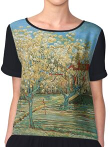 Vincent Van Gogh - Orchard In Blossom, 1888 02 Chiffon Top