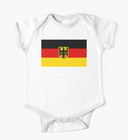 GERMANY, GERMAN, FLAG, Coat of arms of Germany, Common unofficial flag variant One Piece - Short Sleeve