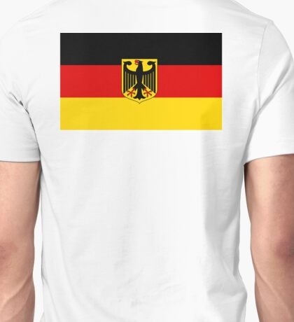 GERMANY, GERMAN, FLAG, Coat of arms of Germany, Common unofficial flag variant Unisex T-Shirt