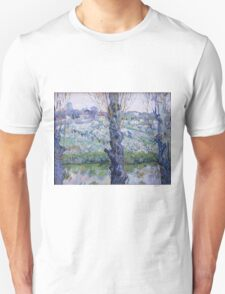 Vincent Van Gogh - Orchard In Bloom With Poplars, 1889 Unisex T-Shirt