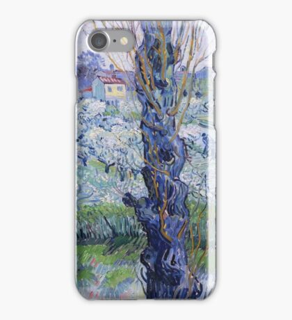 Vincent Van Gogh - Orchard In Bloom With Poplars, 1889 iPhone Case/Skin