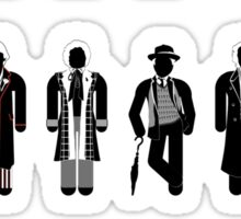 Timelord recognition guide (1st - 11th plus war Doctor) Sticker