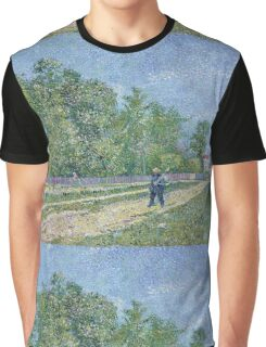 Vincent Van Gogh - Man With Spade In A Suburb Of Paris, 1887 Graphic T-Shirt