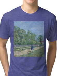 Vincent Van Gogh - Man With Spade In A Suburb Of Paris, 1887 Tri-blend T-Shirt