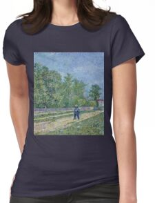 Vincent Van Gogh - Man With Spade In A Suburb Of Paris, 1887 Womens Fitted T-Shirt