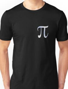 Pi Greek Letter Symbol Chrome Carbon Style Unisex T-Shirt
