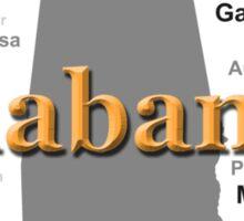 Alabama State Pride Map Silhouette  Sticker