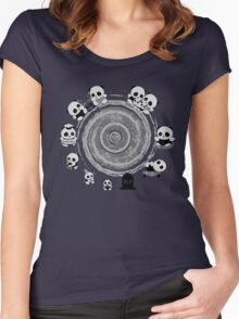 Circle Of Life in Black and White Women's Fitted Scoop T-Shirt