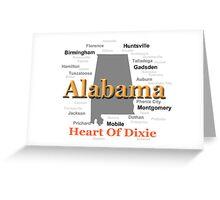 Alabama State Pride Map Silhouette  Greeting Card