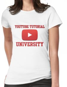 Youtube Tutorial University Womens Fitted T-Shirt