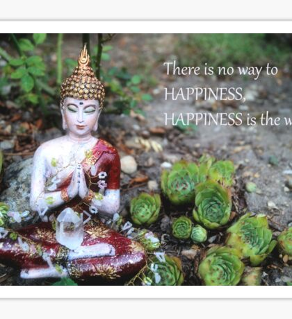 Buddha - Happiness is the way Sticker