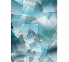 Abstract blue geometric pattern Photographic Print