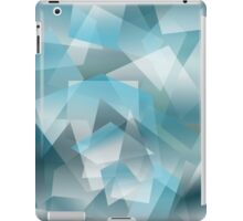 Abstract blue geometric pattern iPad Case/Skin