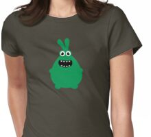 Crazy funny monsters in green Womens Fitted T-Shirt