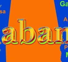 Colorful Alabama State Pride Map Sticker