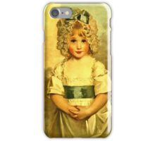 Miss Charlotte Papendick As A Child1788  iPhone Case/Skin