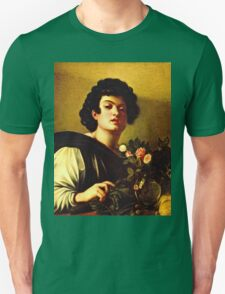 Michelangelo Da Caravaggio - Boy With A Carafe Of Roses  Unisex T-Shirt
