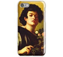 Michelangelo Da Caravaggio - Boy With A Carafe Of Roses  iPhone Case/Skin