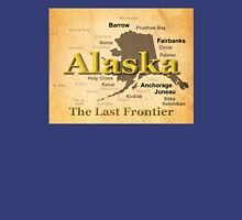 Aged Alaska State Pride Map Silhouette  Unisex T-Shirt