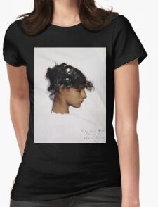 John Singer Sargent - Head Of A Capri Girl  Womens Fitted T-Shirt
