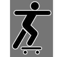 SKATEBOARD, Skateboarder, Skater, Skateboarding, sidewalk surfing, STICK FIGURE Photographic Print