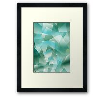 Abstract green geometric pattern Framed Print