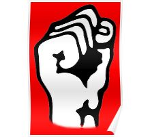 Power to the People, Grip, Fist, Punch, Fight, Strength, Power, Grasp, tough, Karate, Martial Arts, MMA, on RED Poster