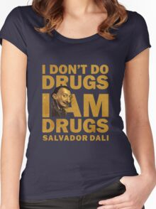 Salvador Dali , i am drugs Women's Fitted Scoop T-Shirt