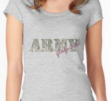 Army Girlfriend Pink Women's Fitted Scoop T-Shirt