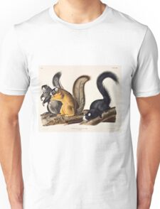 John James Audubon - Sciurus capistratus, Bos Fox Squirrel 1845  Unisex T-Shirt