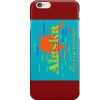 Colorful Alaska State Pride Map iPhone Case/Skin
