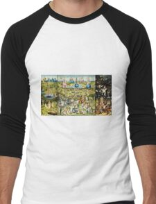 Hieronymus Bosch - The Garden Of Earthly Delights 1515  Men's Baseball ¾ T-Shirt