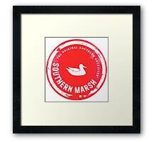 Southern Marsh - Bright Red Framed Print