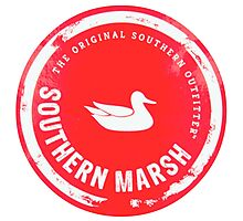 Southern Marsh - Bright Red Photographic Print
