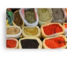 Spices at the Market Canvas Print