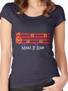 Make It Rain Women's Fitted Scoop T-Shirt