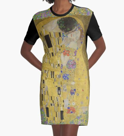 Gustav Klimt - The Kiss Graphic T-Shirt Dress