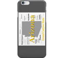Arizona State Pride Map Silhouette  iPhone Case/Skin